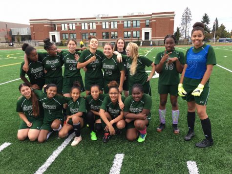 The 2019 Stewart Panthers girls soccer team before a home game last fall. When will we see Stewart athletes back out on the field?